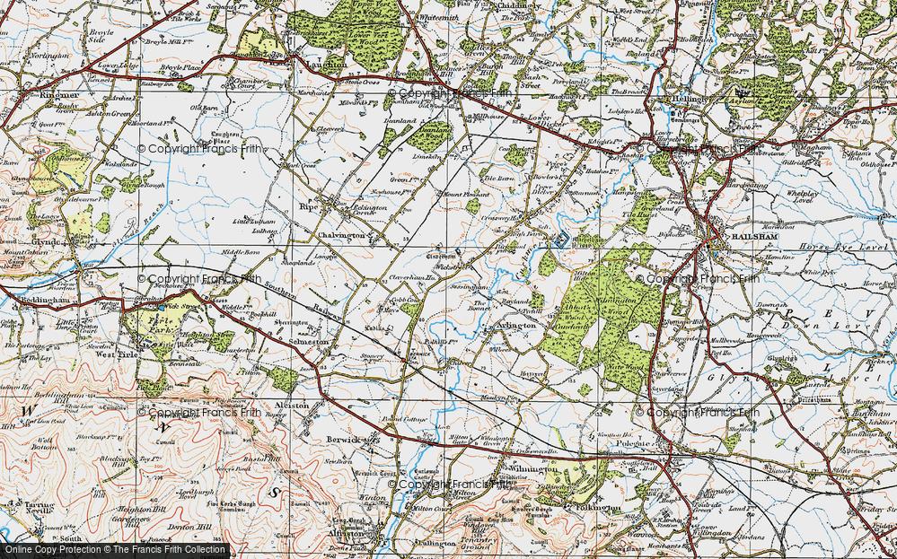 Old Map of Wickstreet, 1920 in 1920