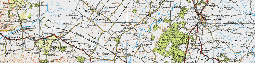 Old map of Wickstreet in 1920