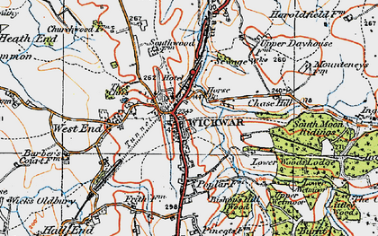 Old map of Wickwar in 1919