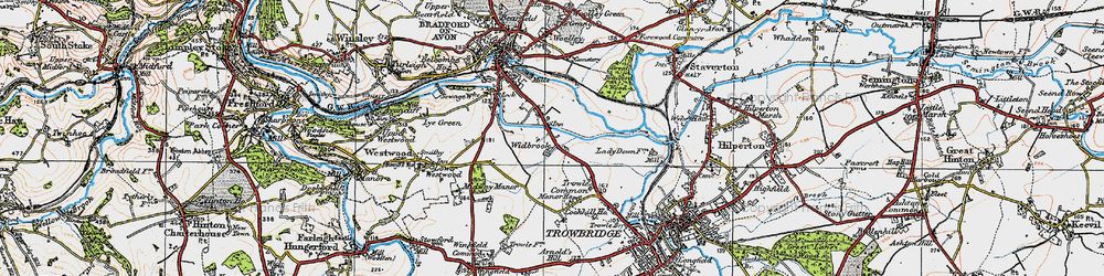 Old map of Widbrook in 1919