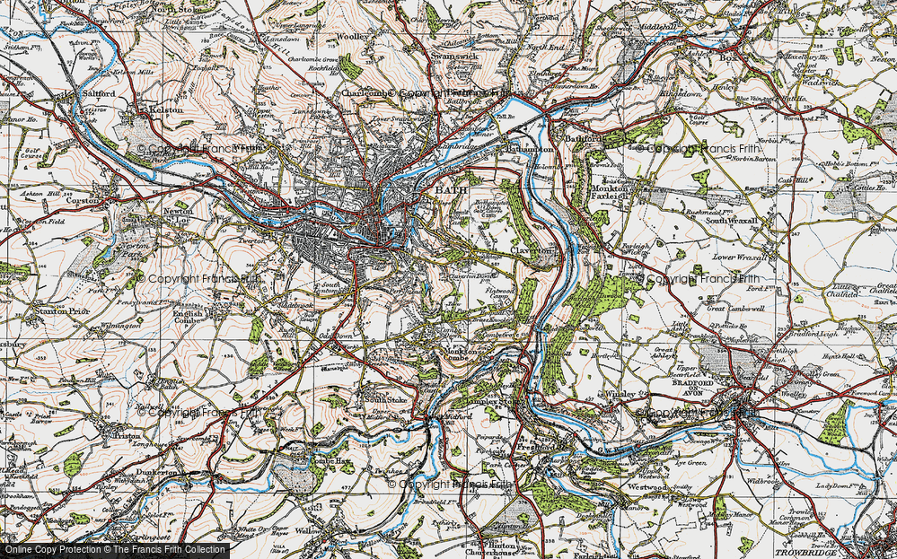 Old Map of Widcombe, 1919 in 1919
