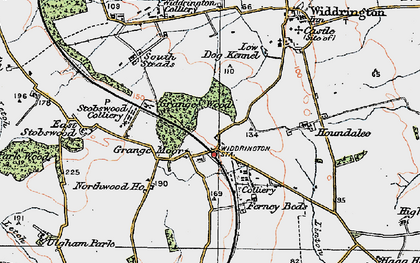 Old map of Widdrington Station in 1925