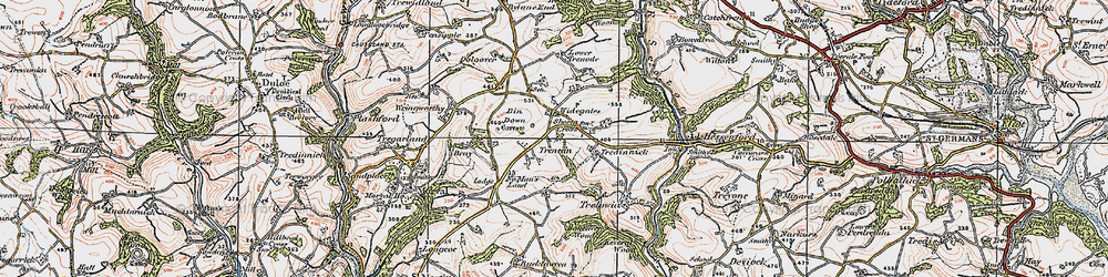 Old map of Widegates in 1919