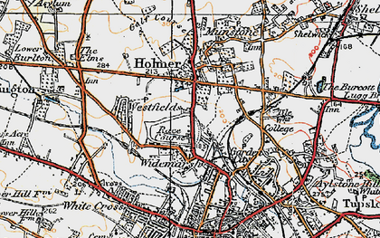Old map of Widemarsh in 1920