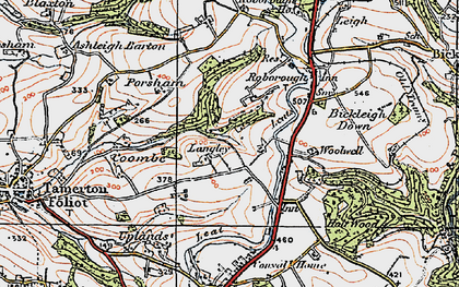 Old map of Widewell in 1919