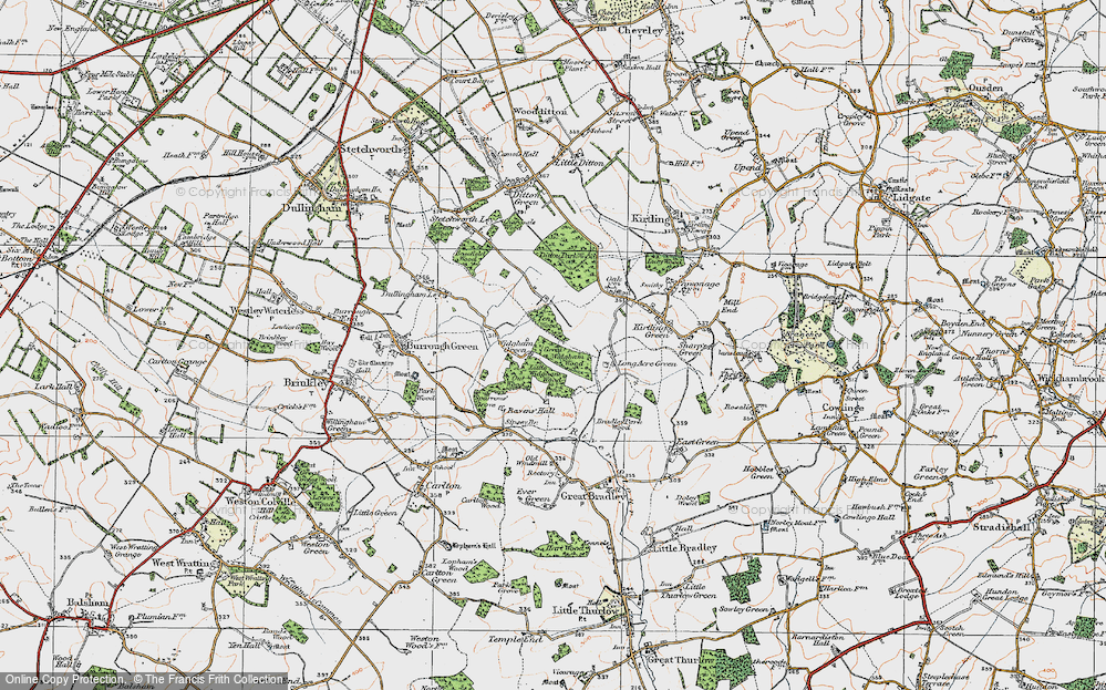 Old Map of Widgham Green, 1920 in 1920