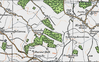 Old map of Widgham Green in 1920