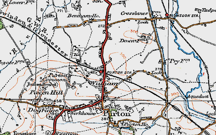 Old map of Widham in 1919