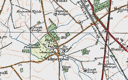 Old map of Widmerpool in 1921