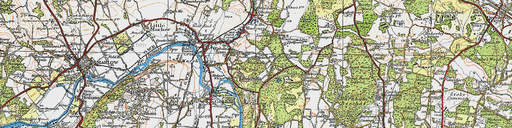 Old map of Widmoor in 1920