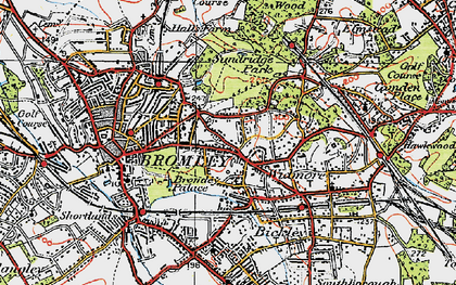 Old map of Widmore in 1920