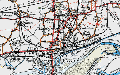 Old map of Widnes in 1923