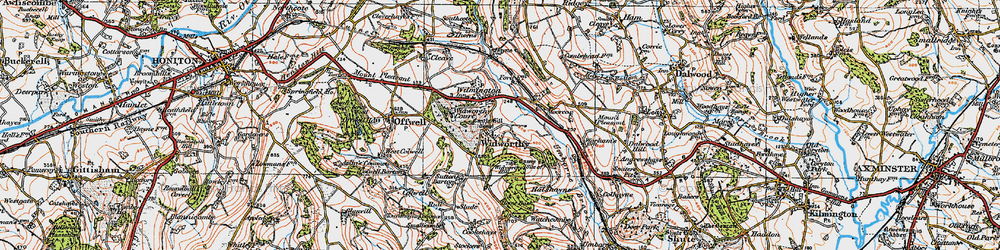Old map of Widworthy in 1919