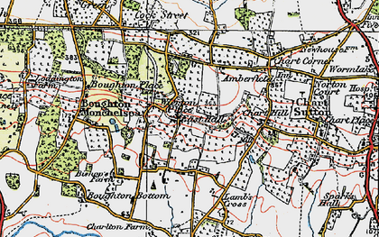 Old map of Wierton in 1921