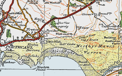 Old map of Wig Fach in 1922