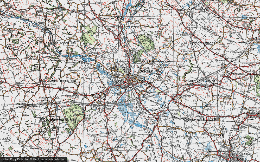 Old Maps of Wigan Francis Frith