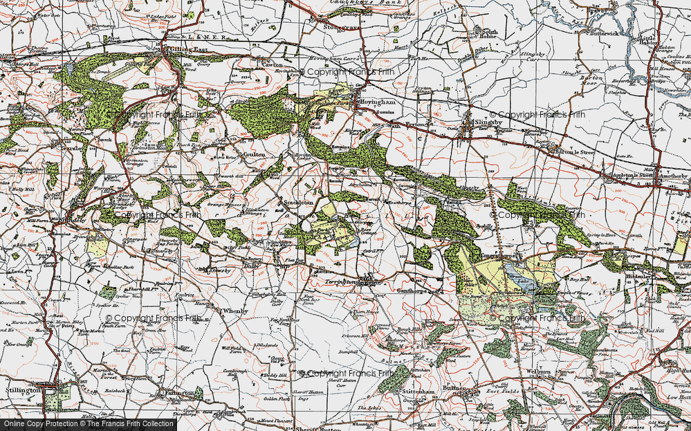 Old Map of Historic Map covering Airyholme in 1924