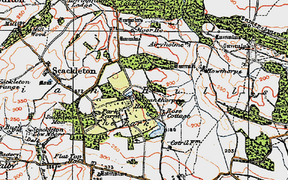 Old map of Airyholme in 1924