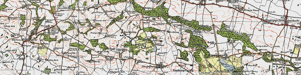 Old map of Wiganthorpe in 1924