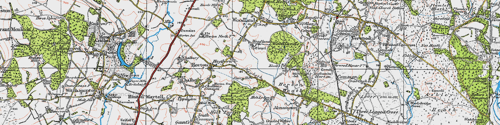 Old map of Wigbeth in 1919