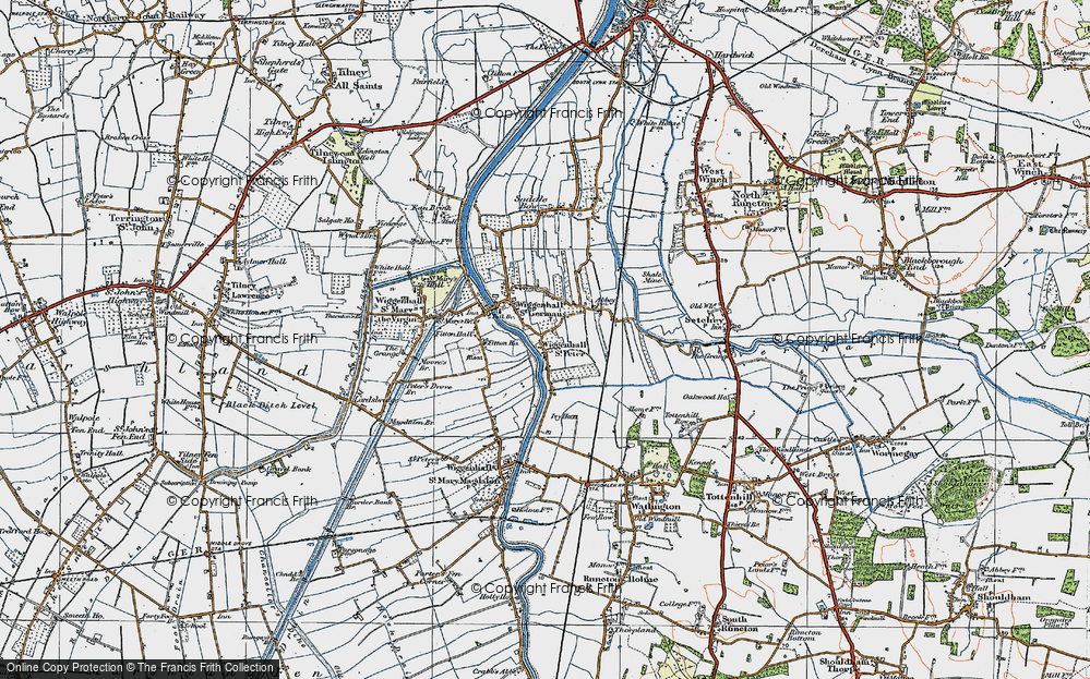 Old Map of Wiggenhall St Peter, 1922 in 1922