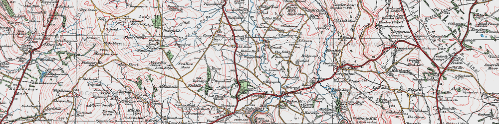 Old map of Wigginstall in 1923