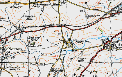 Old map of Wigginton in 1919