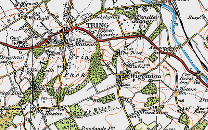 Old map of Wigginton in 1920