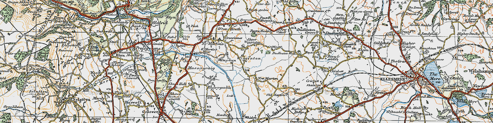 Old map of Wigginton in 1921