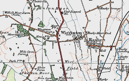 Old map of Wigginton in 1924