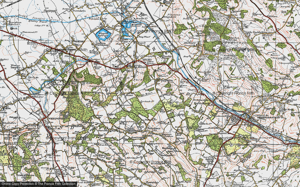 Old Map of Wigginton Bottom, 1920 in 1920