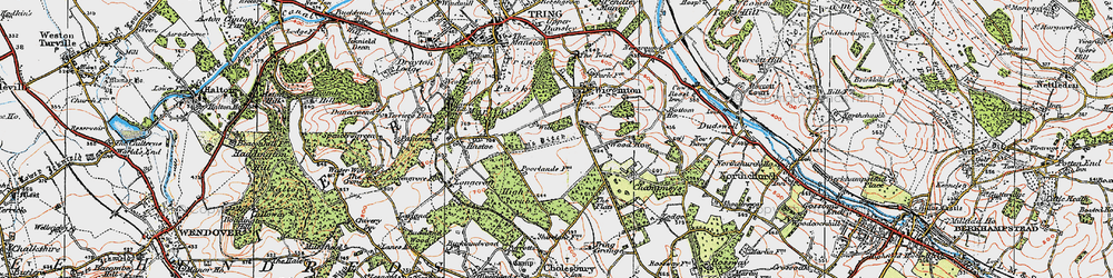 Old map of Wigginton Bottom in 1920