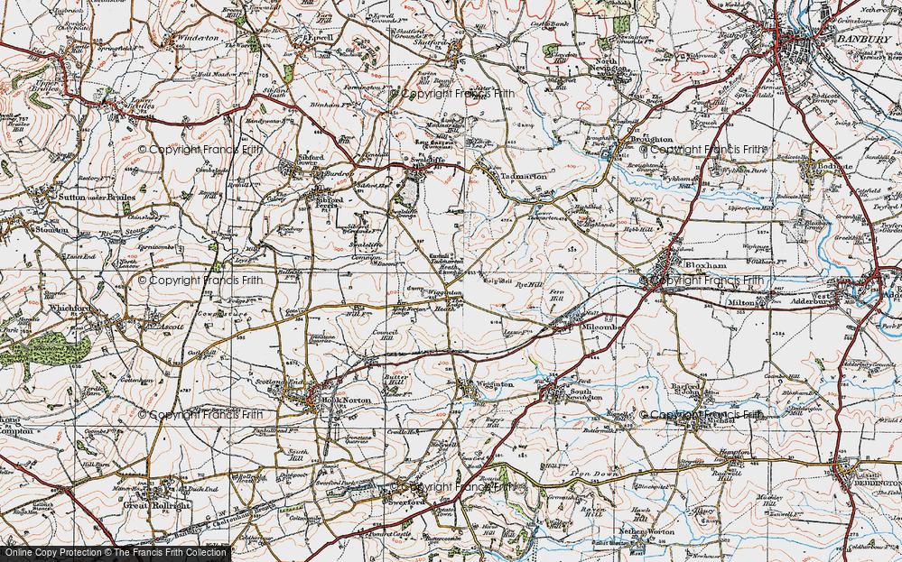 Old Map of Wigginton Heath, 1919 in 1919