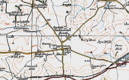 Old map of Wigginton Heath in 1919