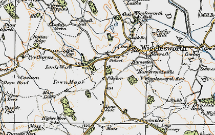 Old map of Wigglesworth in 1924