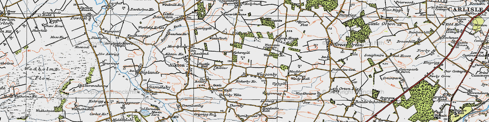 Old map of Wiggonby in 1925