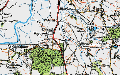 Old map of Wiggonholt in 1920