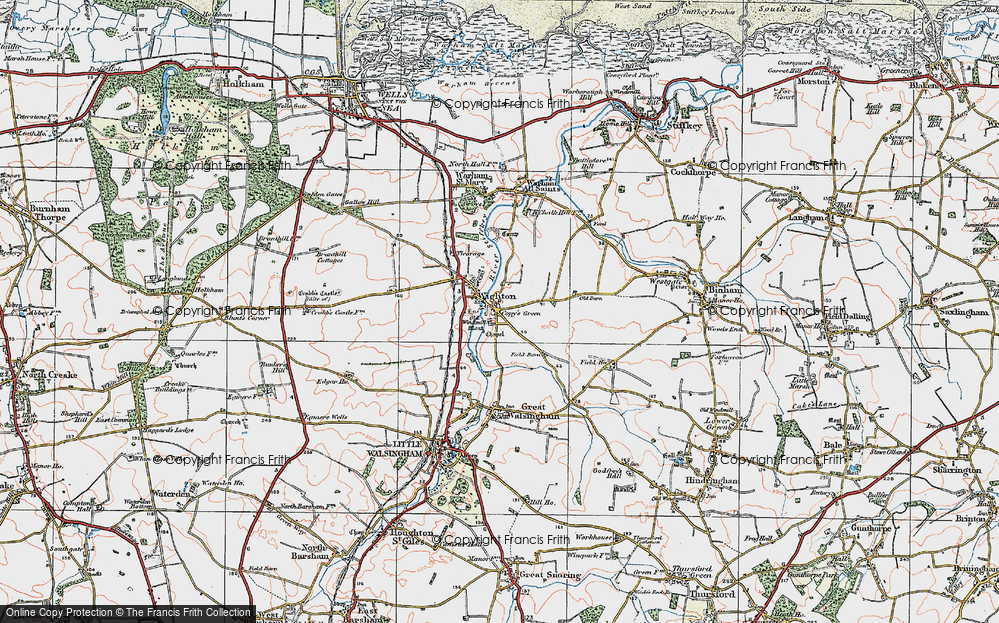 Old Map of Wighton, 1921 in 1921