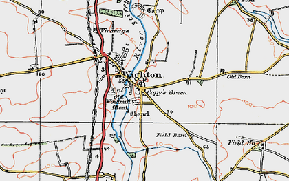 Old map of Wighton in 1921