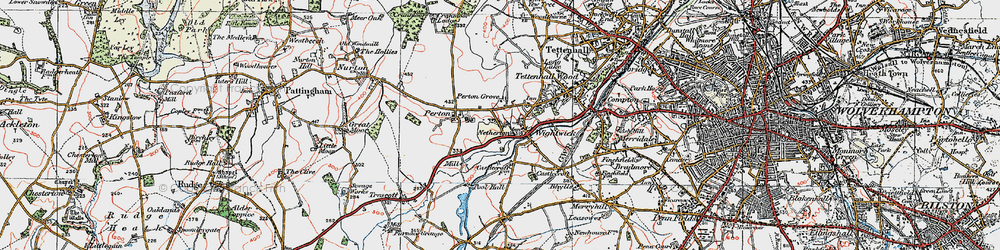 Old map of Wightwick Manor in 1921