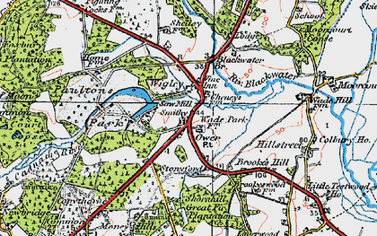 Old map of Wigley in 1919