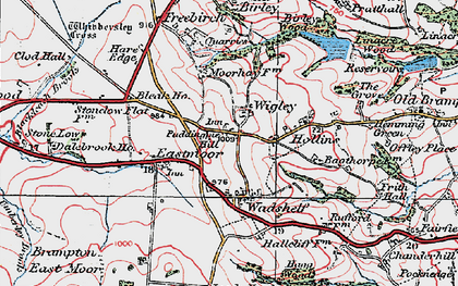 Old map of Wigley in 1923
