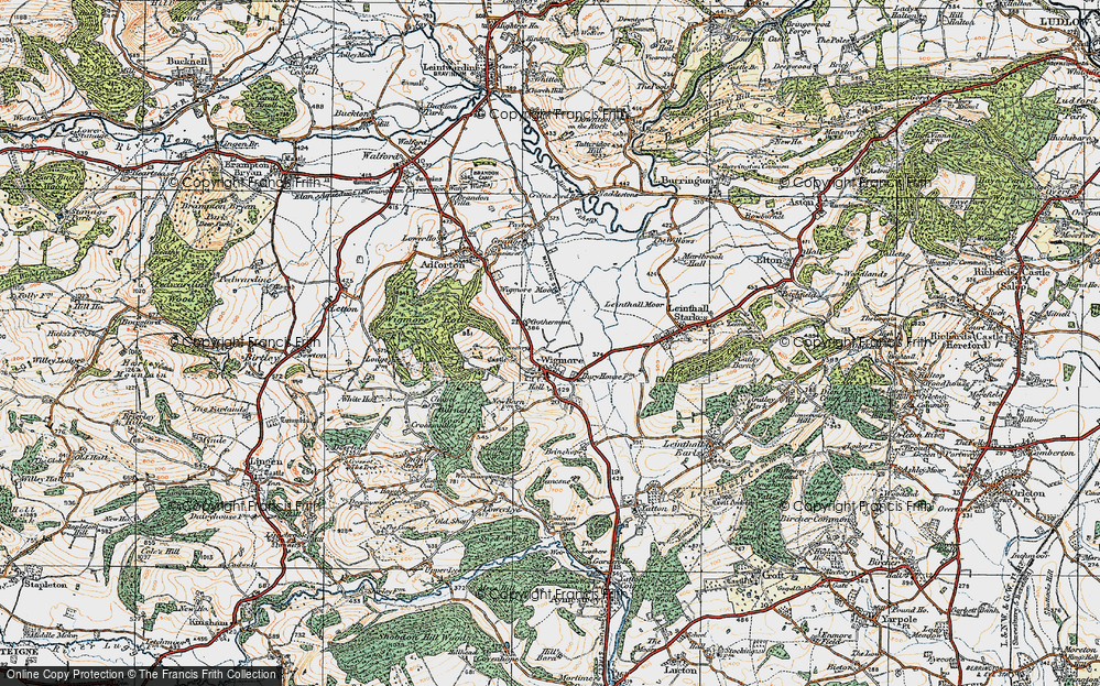 Old Map of Wigmore, 1920 in 1920