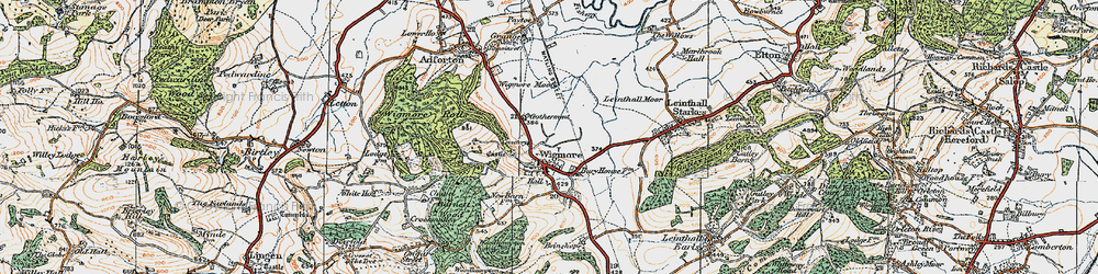 Old map of Wigmore Rolls in 1920