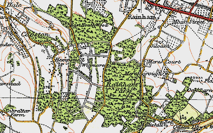 Old map of Wigmore in 1921