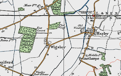 Old map of Wigsley in 1923