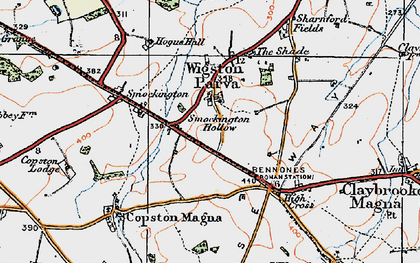 Old map of Leicestershire Round, The in 1920