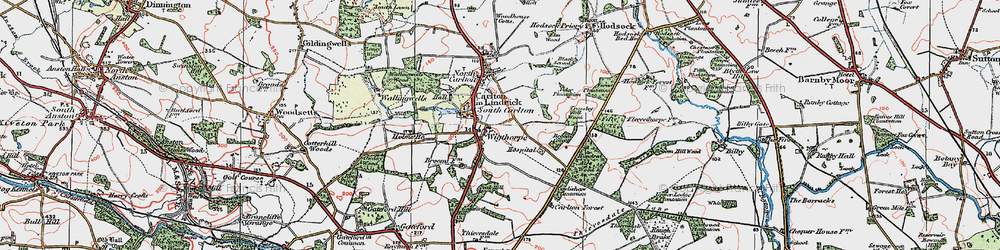 Old map of Wigthorpe in 1923