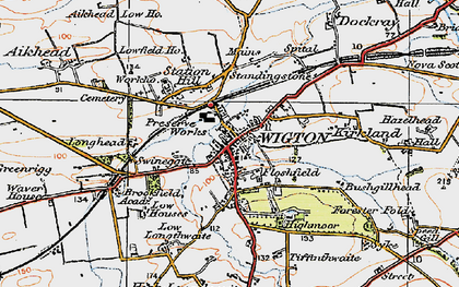 Old map of Wigton in 1925