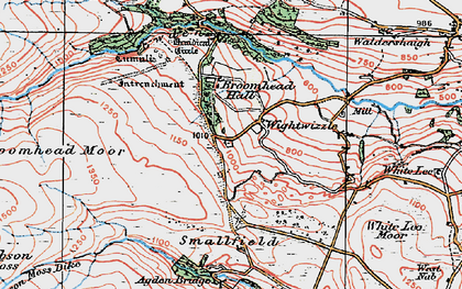 Old map of Bar Dyke in 1924